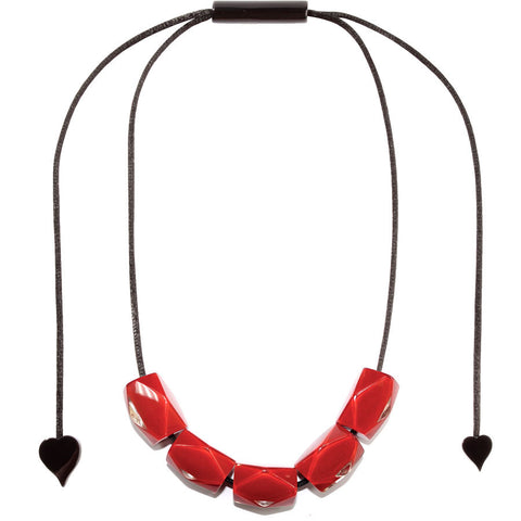 Zsiska Luce Red Necklace