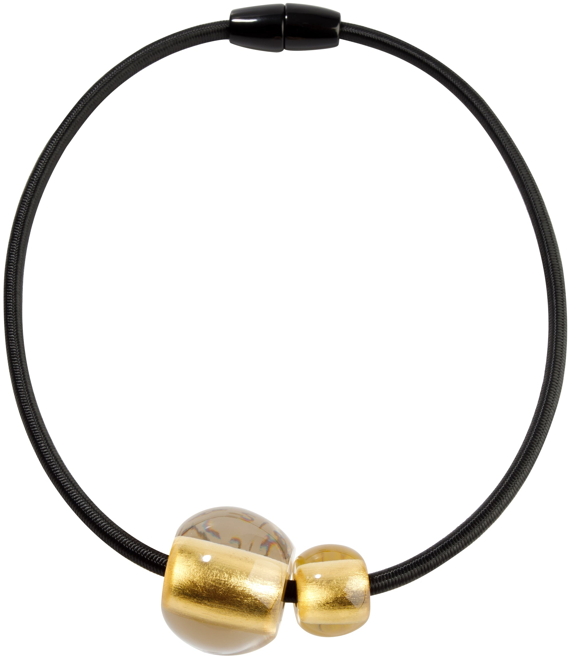 Zsiska Precious Gold Bead Necklace