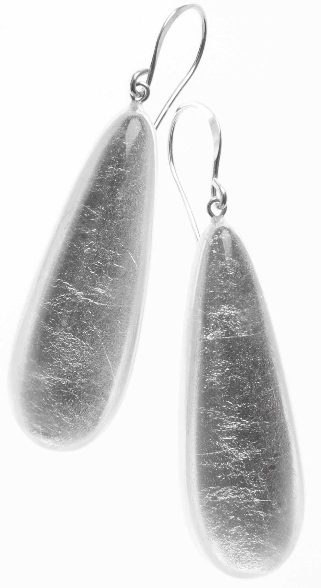 Zsiska Precious Silver Leaf Drop Earrings