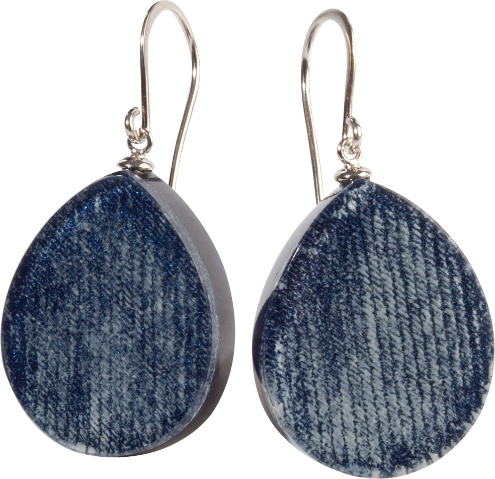 Zsiska Chambray Blue Drop Earrings