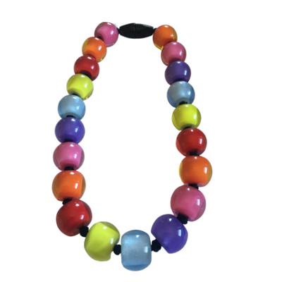 Zsiska Colourful Beads Spectrum Necklace - Choose your size