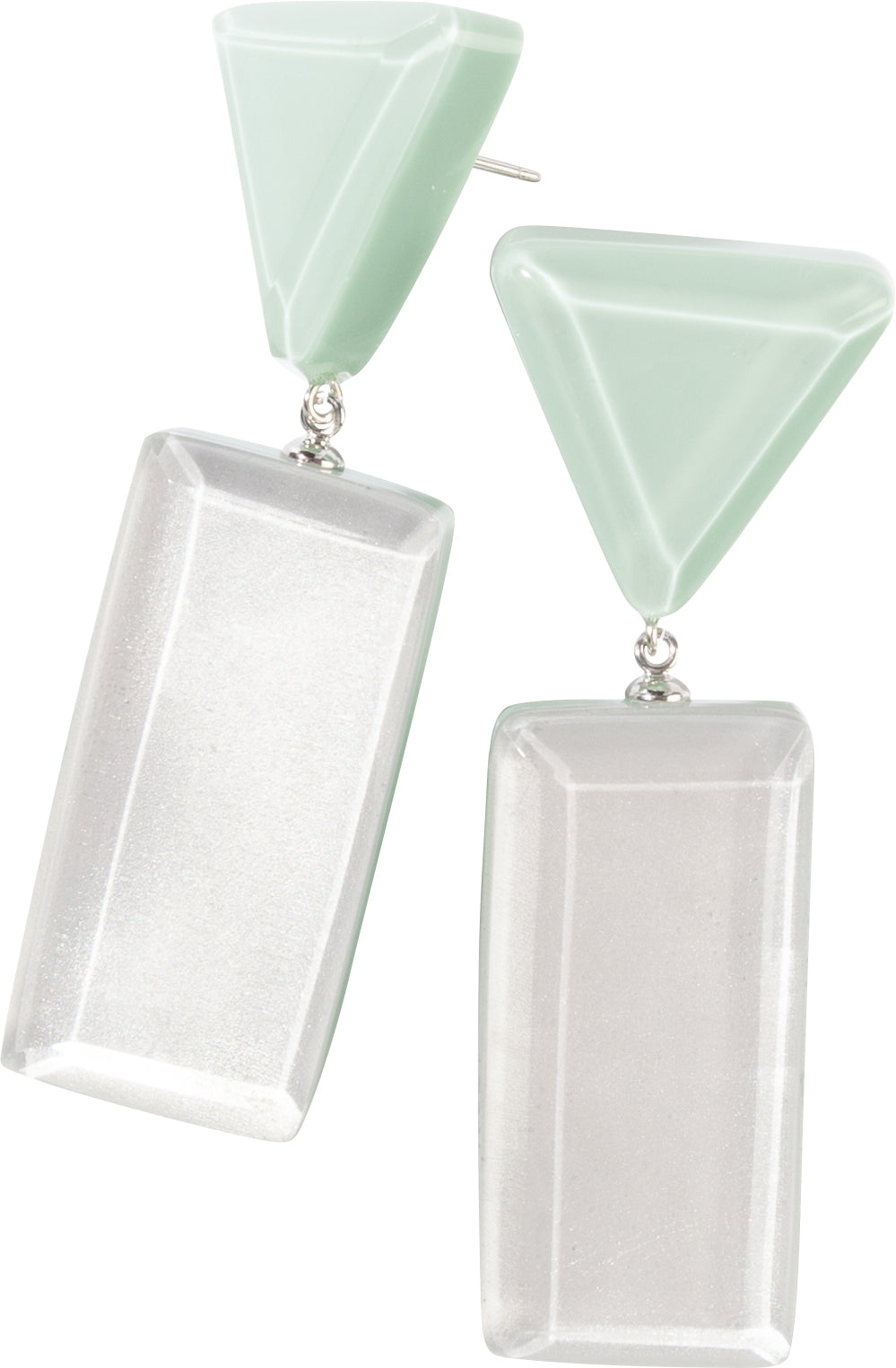 Zsiska Reflection Two Colour Drop Earrings - Choose your colour