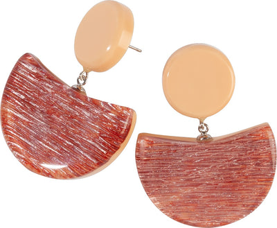 Zsiska Elia Pink Resin Drop Earrings