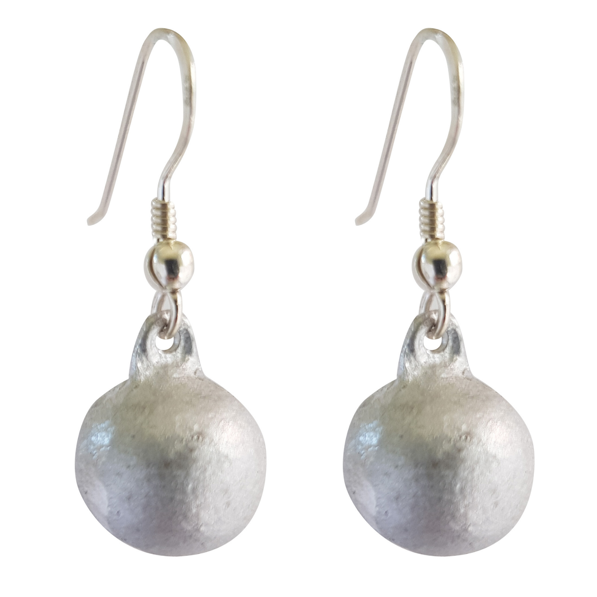 LOVEbomb Ball Shaped Sterling Silver Hook Earrings