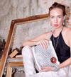 "Solene M ""Be You"" Shoulder Bag or Cross Body Bag made from recycled Can Pull Tabs"