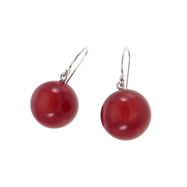 Zsiska Bolas Red Drop Earrings