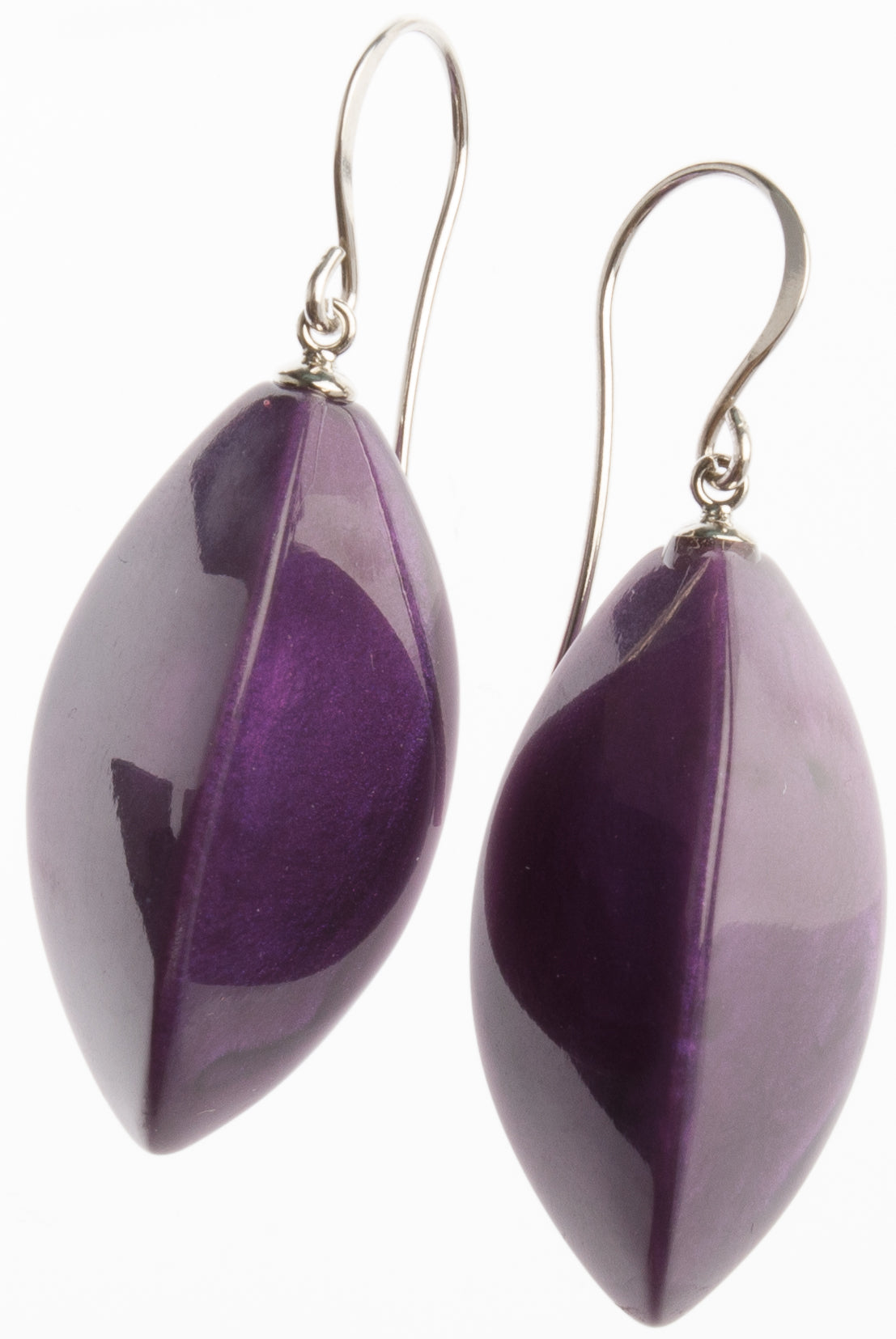 Zsiska Bossa Nova Purple Drop Earrings