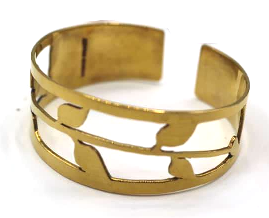 Brass Leaf Cut Out Bangle