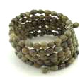 Iron and Seed Multi Wrap Spiral Bracelet