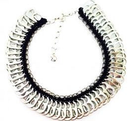 Solene M Pop Tab Necklace made from recycled Can Pull Tabs