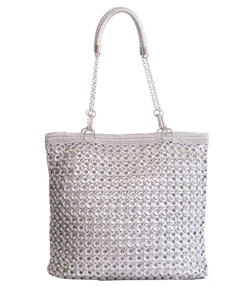 "Solene M ""Fanity"" Shoulder Bag, made from recycled Can Pull Tabs"