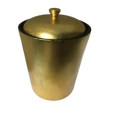 Gold Painted Lacquerware Champagne Bucket