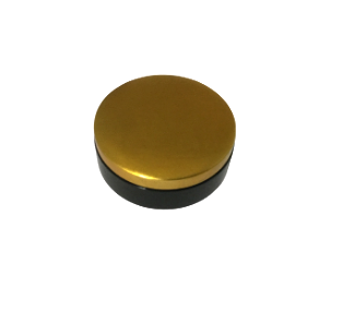 Round Lacquered Trinket Box - Gold and Black