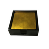 Set of 6 Gold Lacquerware Drink Coasters in a black presentation box