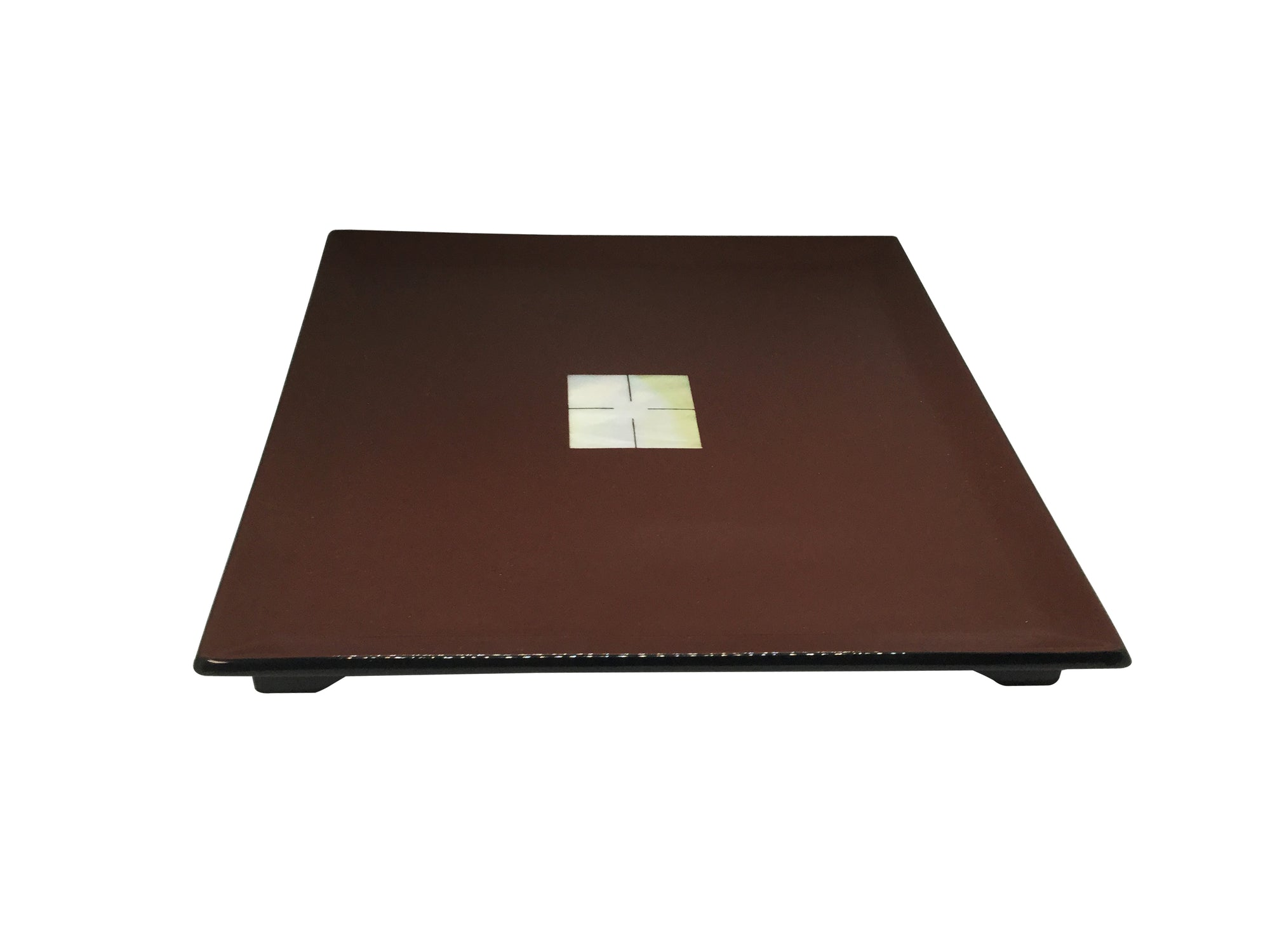 Lacquerware Square Tray with Pearl Shell Feature