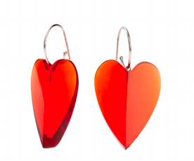 Zsiska Heart Drop Earrings  - A Colourful Statement of Love