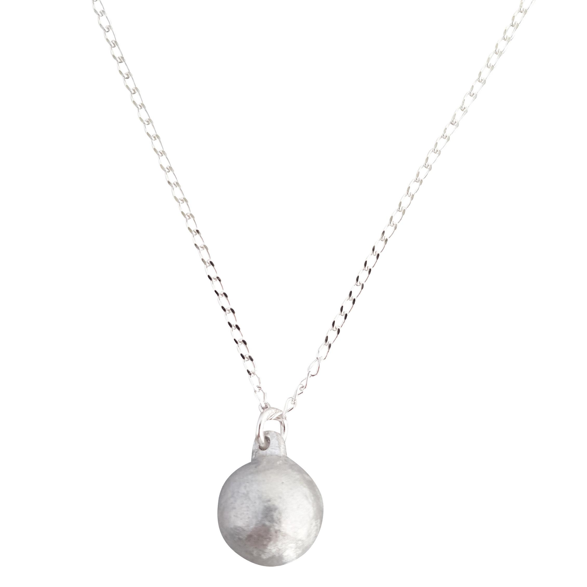LOVEbomb Ball Shape Pendant on Sterling Silver Chain