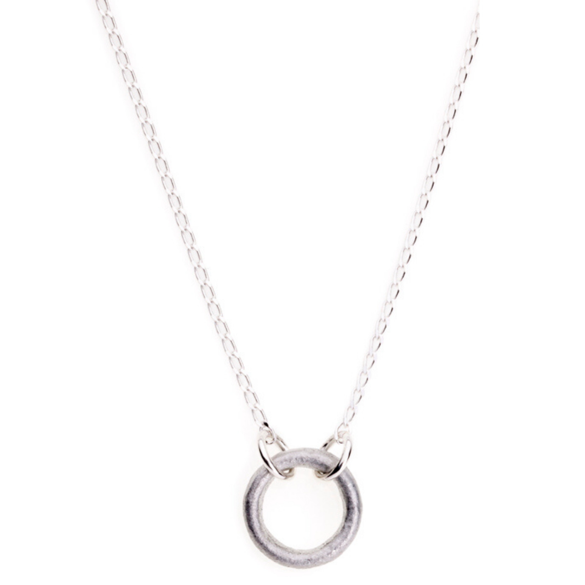 LOVEbomb Circle Shape Pendant on Sterling Silver Chain