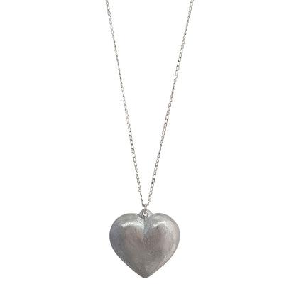 LOVEbomb Large Heart Pendant on Long Sterling Silver Chain