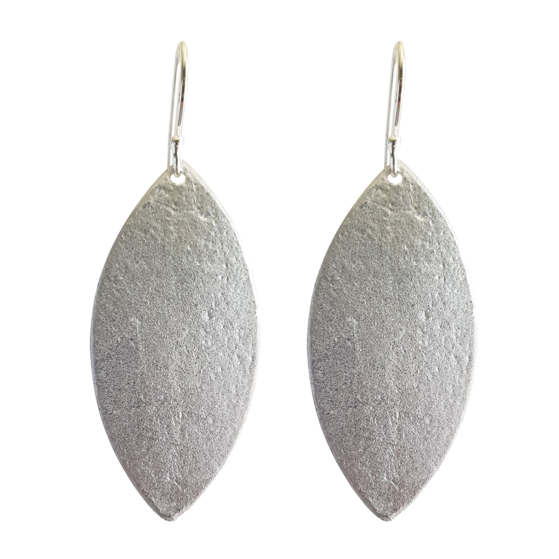 LOVebomb Leaf Shape Sterling Silver Hook Earrings