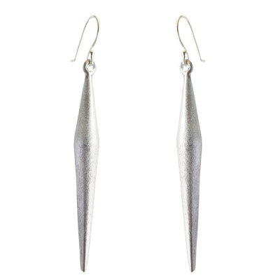 LOVEbomb Long Point Sterling Silver Hook Earrings