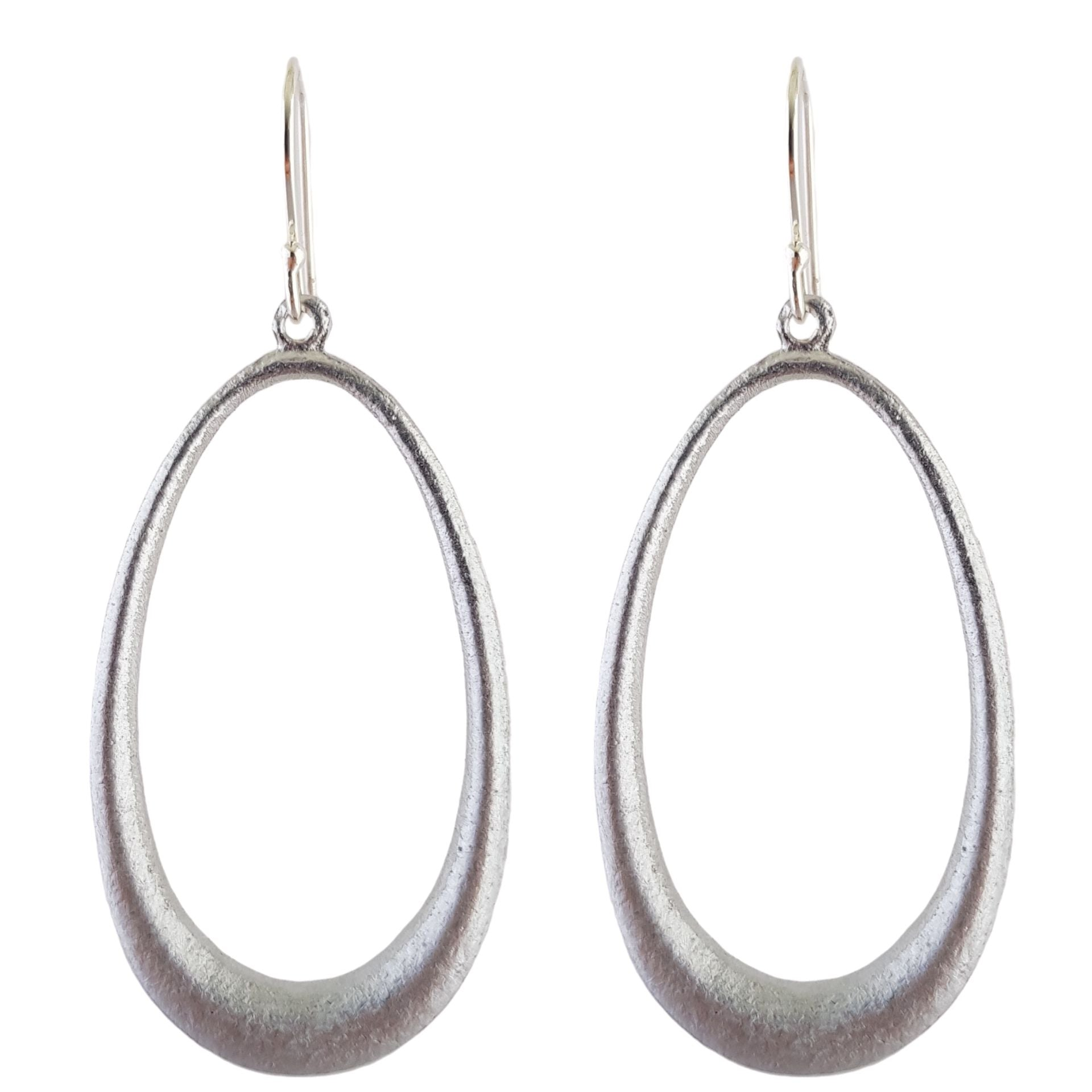 LOVEbomb Long Hoop Earrings on Sterling Silver Hooks