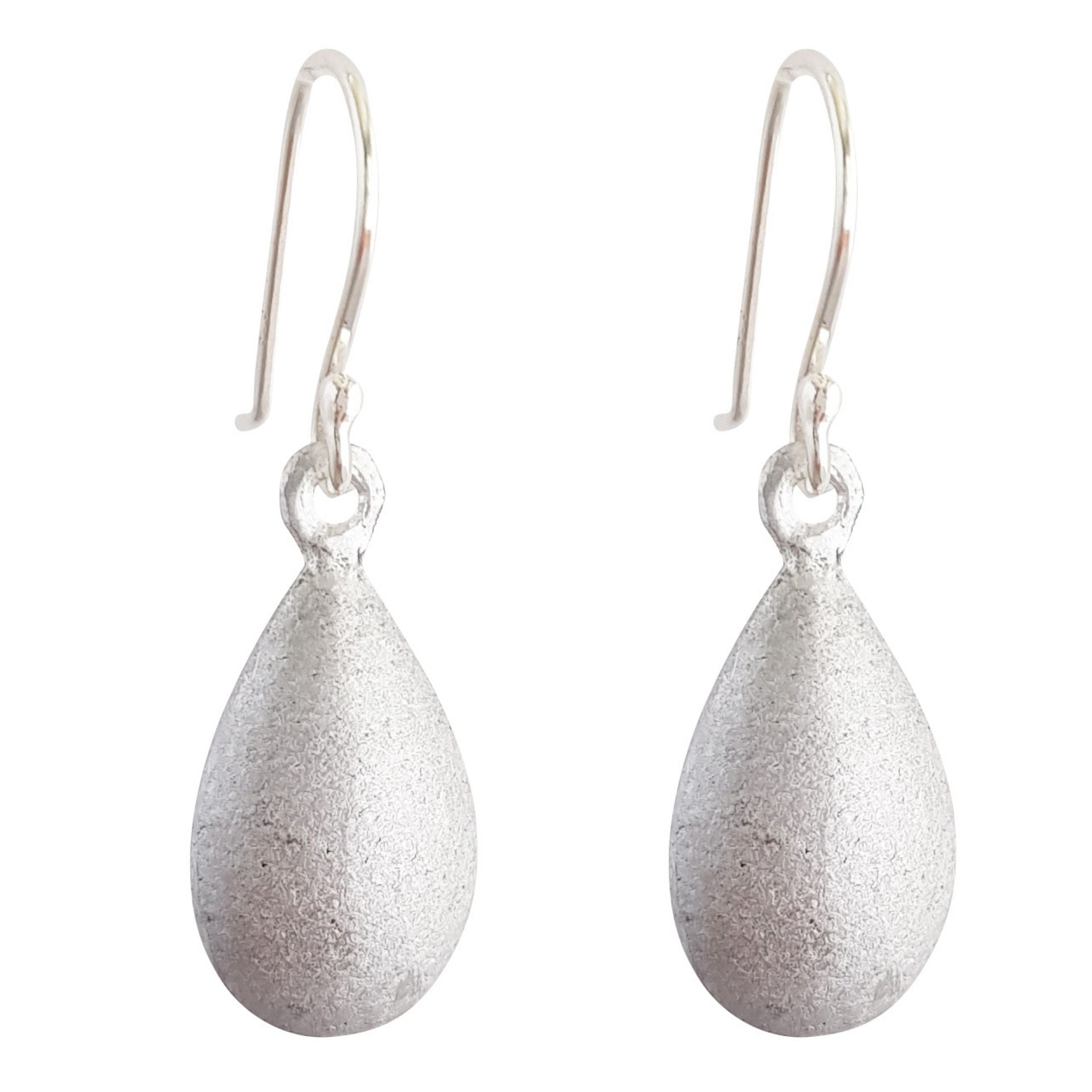 LOVEbomb Raindrop Sterling Silver Hook Earrings