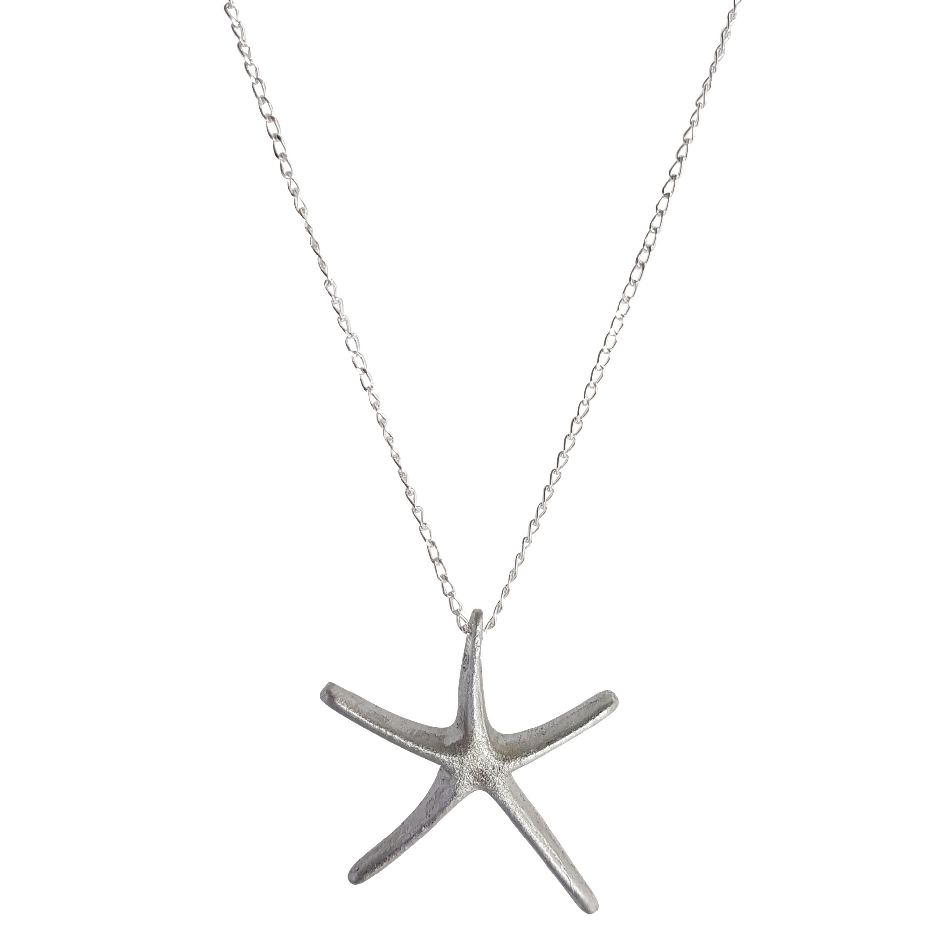 LOVEbomb Starfish Shape Pendant on Sterling Silver Chain