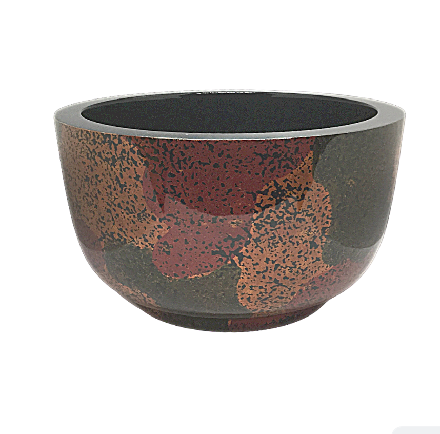Large Lacquerware Bowl - Light Fireworks Design