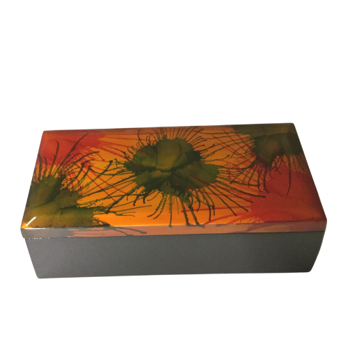 Decorative Box with Separate Lid - Light Fireworks painting