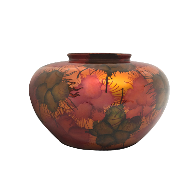 Light Fireworks Painted Round Vase