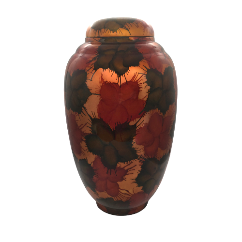 Painted Lacquerware Ginger Jar - Light Fireworks Design