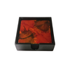 "Set of 6 Lacquerware Drink Coasters in a black presentation box - ""Light Fireworks"""
