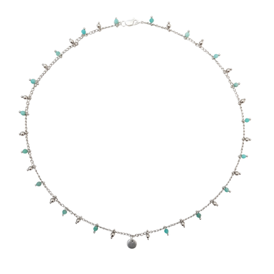 LOVEbomb Amazonite and Sterling Silver Chain Choker Necklace