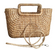 Oblong Basket Bag with Oblong Handles made from Water hyacinth