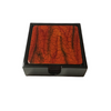 "Set of 6 Lacquerware Drink Coasters in a black presentation box - ""Tree Bark"""