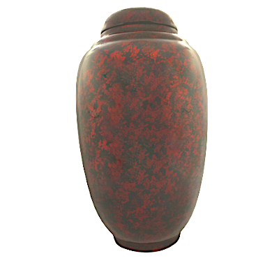Red and Black Painted Lacquerware Ginger Jar