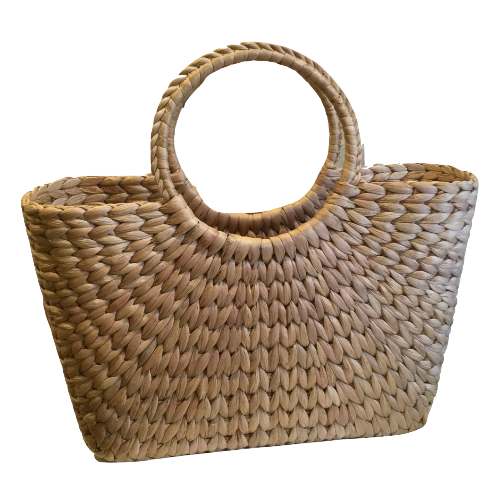 Rokhak Water Hyacinth handwoven Shopping Basket Bag
