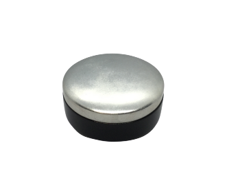 Silver Lacquered Round Trinket Box