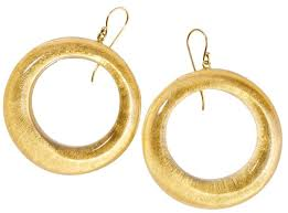 Zsiska Precious Gold Circle Drop Earrings