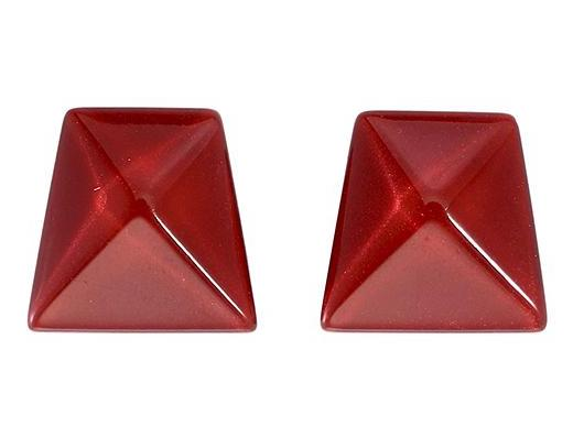 Zsiska Herrera Red Clip on Earrings