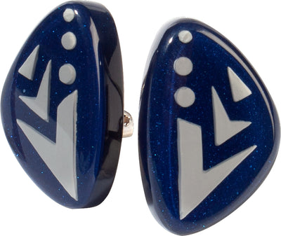 Zsiska Maia Two Colour Clip on Earrings