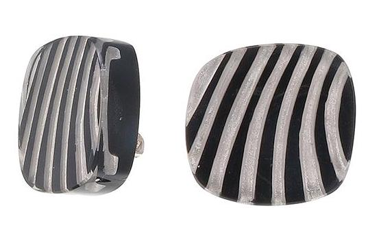 Zsiska Mirage Monochrome Clip On Earrings