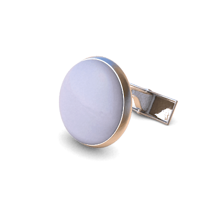 Analog Cufflinks Pastel Purple Round Cufflinks on Silver Base-Analog Cufflinks-Temples and Markets