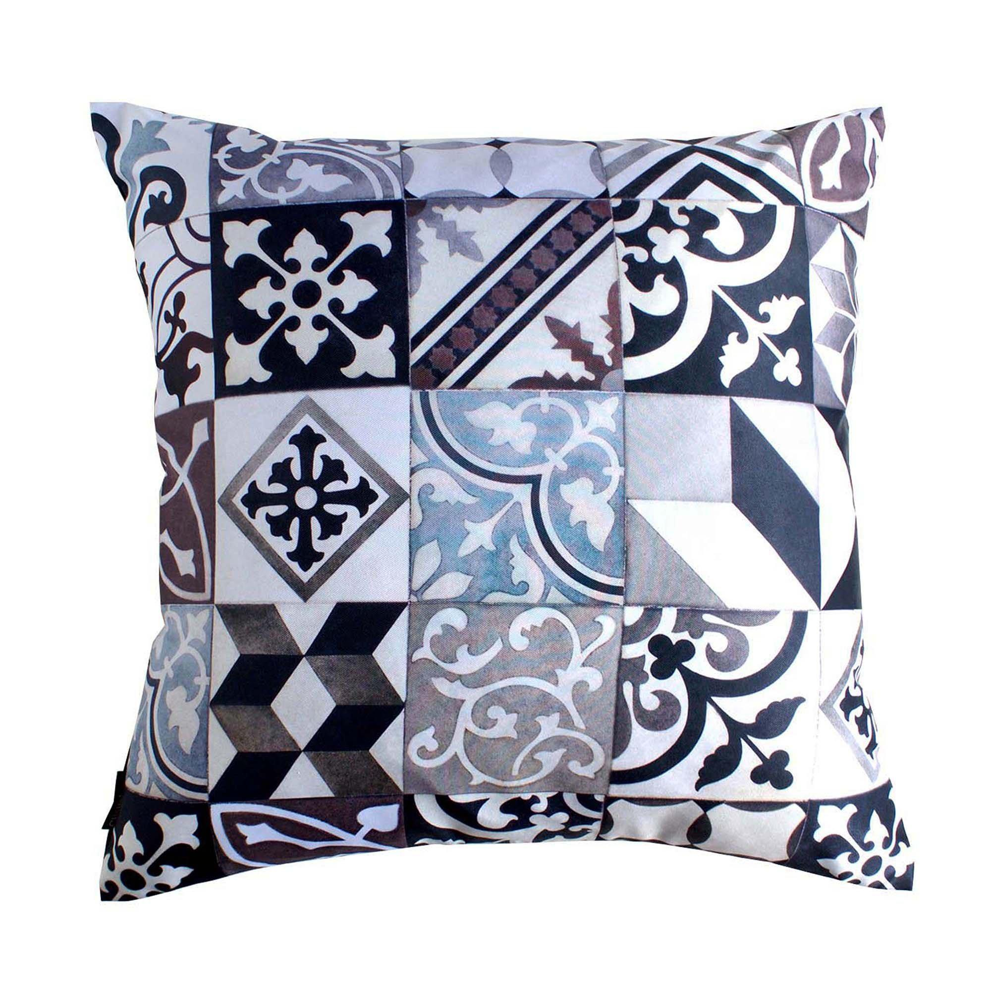 Art Deco Black Cushion Cover-CUSHnART-Temples and Markets