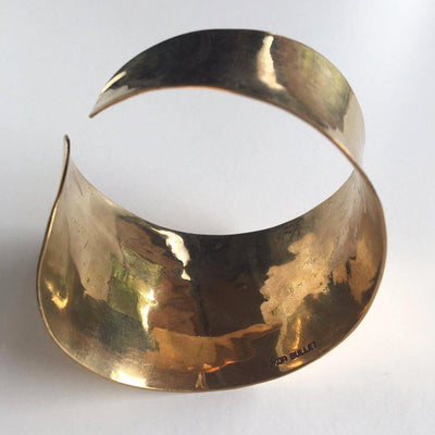 Asymmetrical Brass Cuff-Angkor Bullet Jewellery Cambodia-Temples and Markets