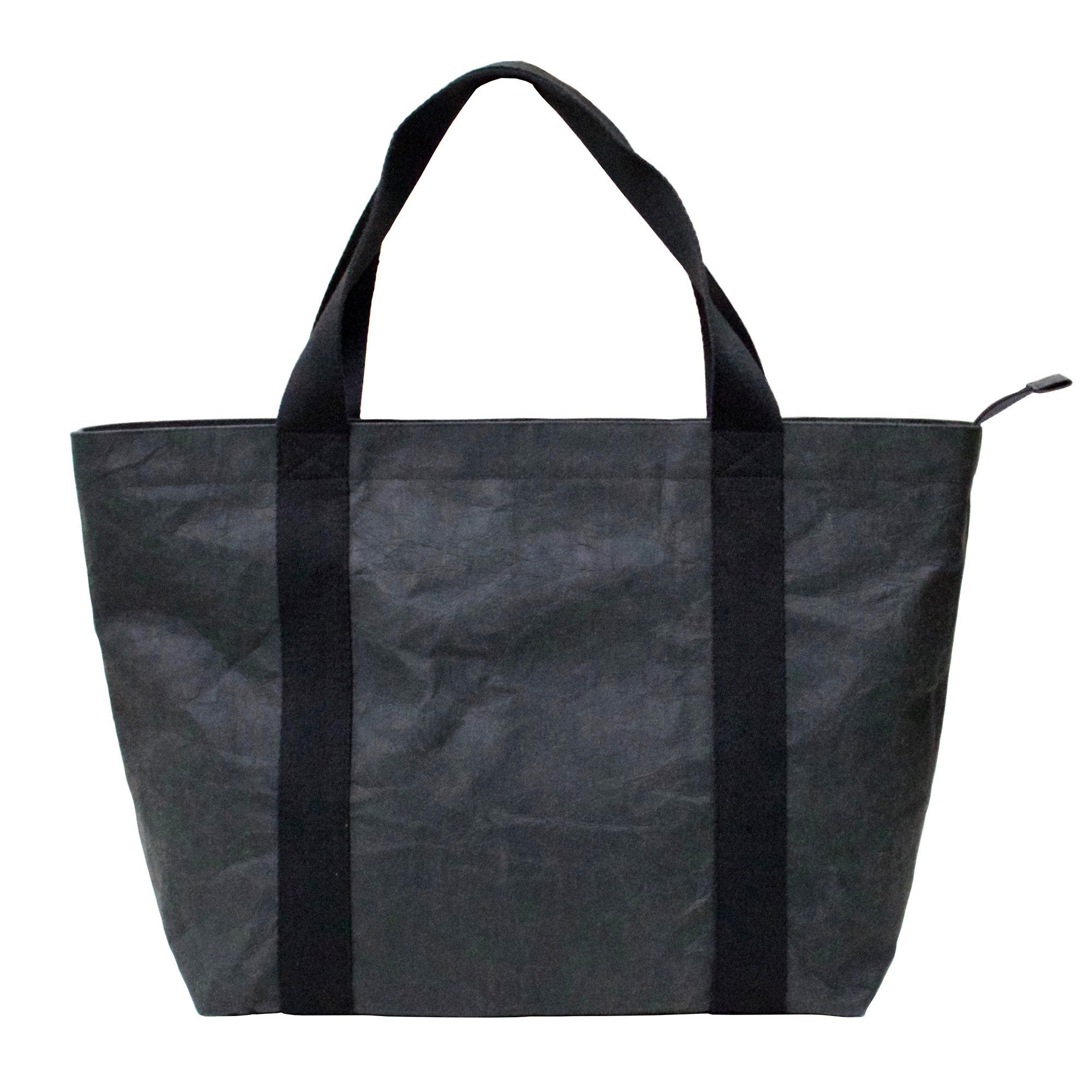 Athena Black Tote Bag made from eco-friendly Washable Paper-Kaban-Temples and Markets