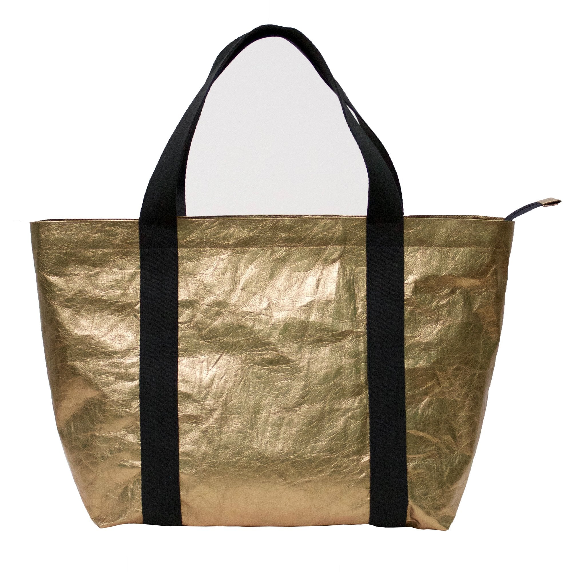 Athena Metallic Washable Paper Tote Bag-Kaban-Temples and Markets