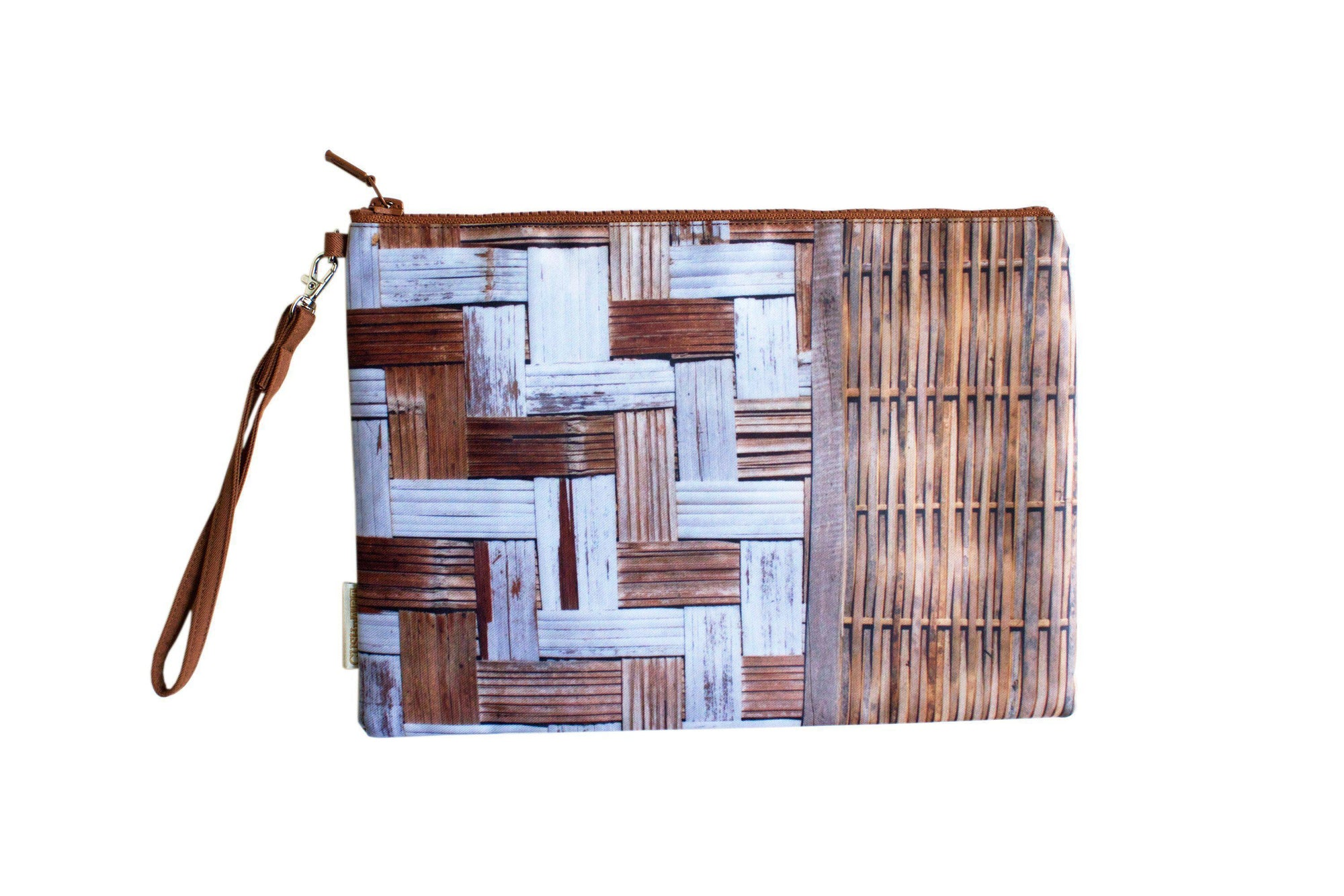 Bamboo Wall Water Resistant Clutch-CUSHnART-Temples and Markets
