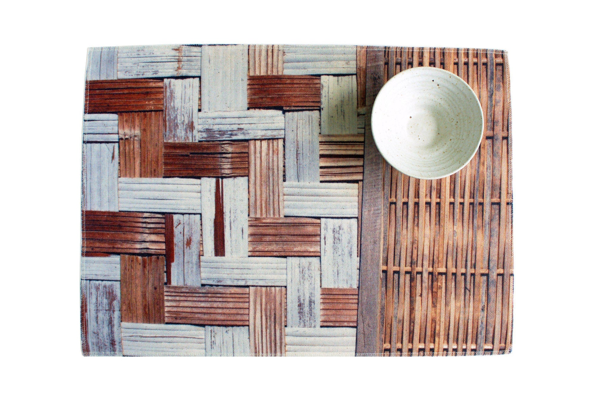 Bamboo Wall Water Resistant Placemats - Set of 4